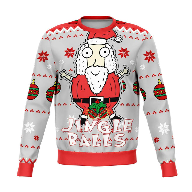 Jingle Balls Funny Ugly Christmas Sweater - OnlyClout
