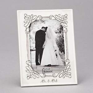 MR & MRS WEDDING FRAME 4x6