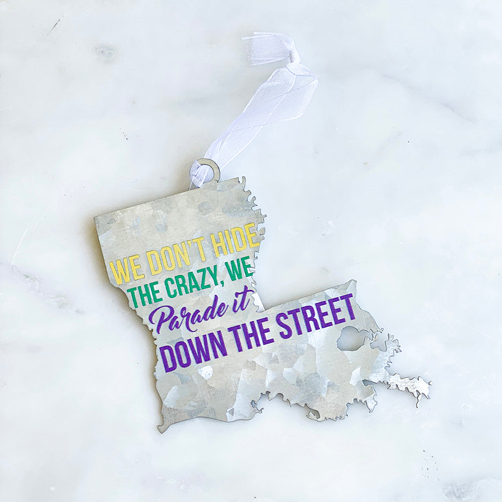 Galvanized Parade it Ornament