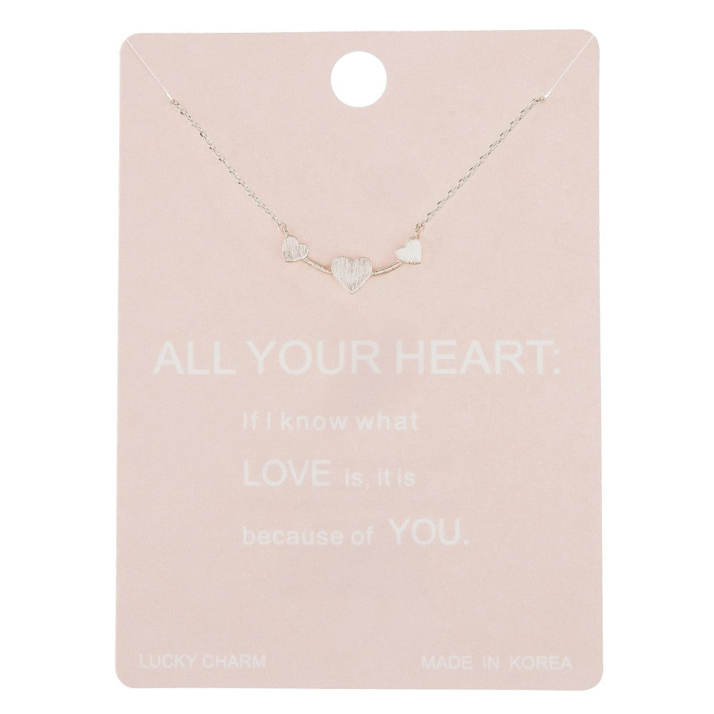 Dainty All Your Heart lucky charm necklace - Silver