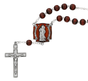 ST FLORIAN RED AUTO ROSARY