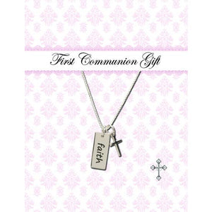 First Communion Sterling Necklace