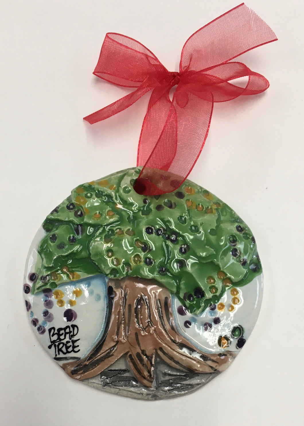 Architectural Memories - Mardi Gras Bead Tree Ornament