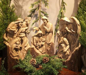 Nativity 10.50x4.5x19 Wood