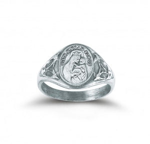 STERLING SILVER OUR LADY OF MOUNT CARMEL RING
