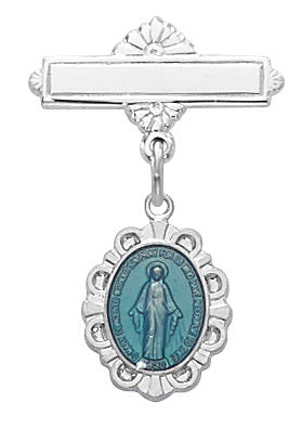 Baby Pin Blue Miraculous Medal
