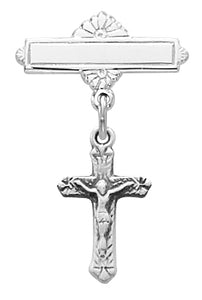 Baby Pin Sterling Crucifix