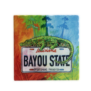 GLASS CUTTING BOARD STATE PLATE GATOR