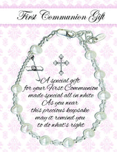 Load image into Gallery viewer, Sterling Silver First Communion Rosary Bracelet (FCB-Rosary)