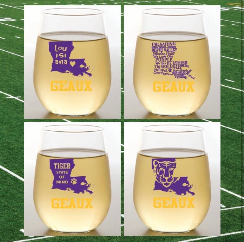 LOUISIANA SHATTER PROOF WINE GLASS