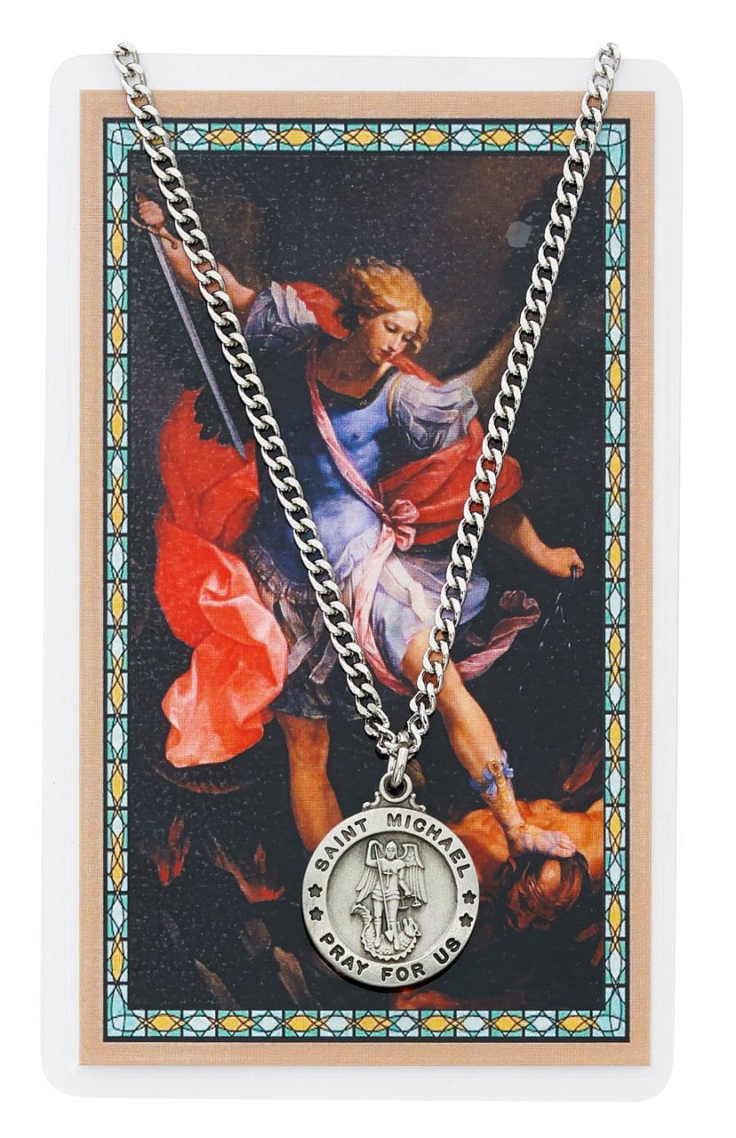 St. Micheal Prayer Card and Medal