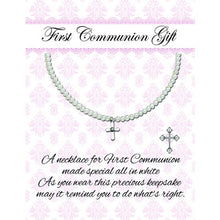 Load image into Gallery viewer, Silver First Communion Pearl Necklace