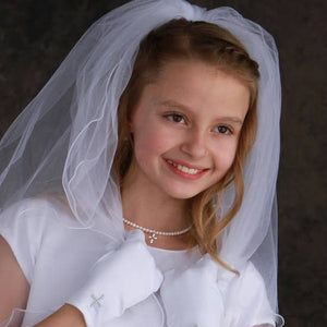 Silver First Communion Pearl Necklace