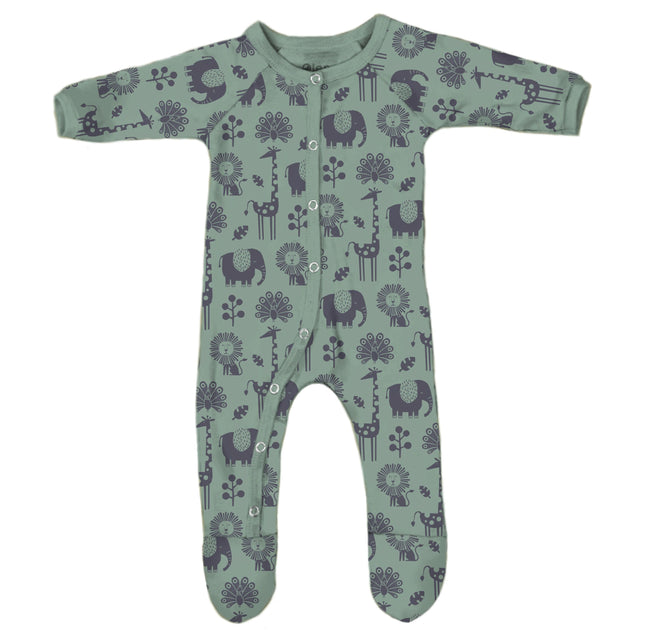 Sleepsuit - Safari - Tea Green