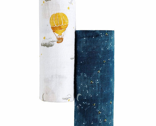 Muslin Swaddle Pack of 2 - Starry night