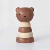 Wood stacker toy - bear