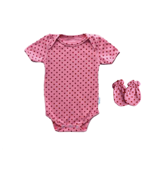 Pink Polka Dot - 2 pcs Set