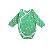 Side Snap Bodysuit - Green Star
