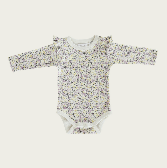 Frill Long Sleeve Bodysuit - Summer Floral