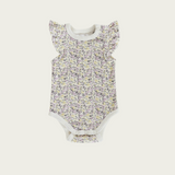 Frill Short Sleeve Bodysuit - Summer Floral