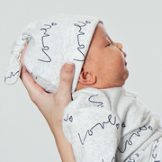 Baby Knot Hat - Love Print