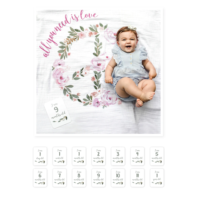 Blanket & Cards Set - All you need is love