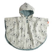 Bath poncho - Sea friends Blue
