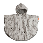 Bath poncho - Sea friends Grey