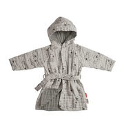 Bathrobe - Sea friends Grey