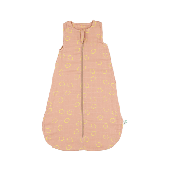 Muslin Sleeping Bag - Lemon squash