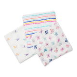 Pack of 3 swaddles - Garden Friends