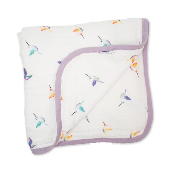 Bamboo Blanket - Hummingbirds