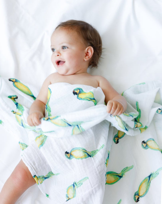 Muslin Swaddle Pack of 2 - Tropical Rainforest