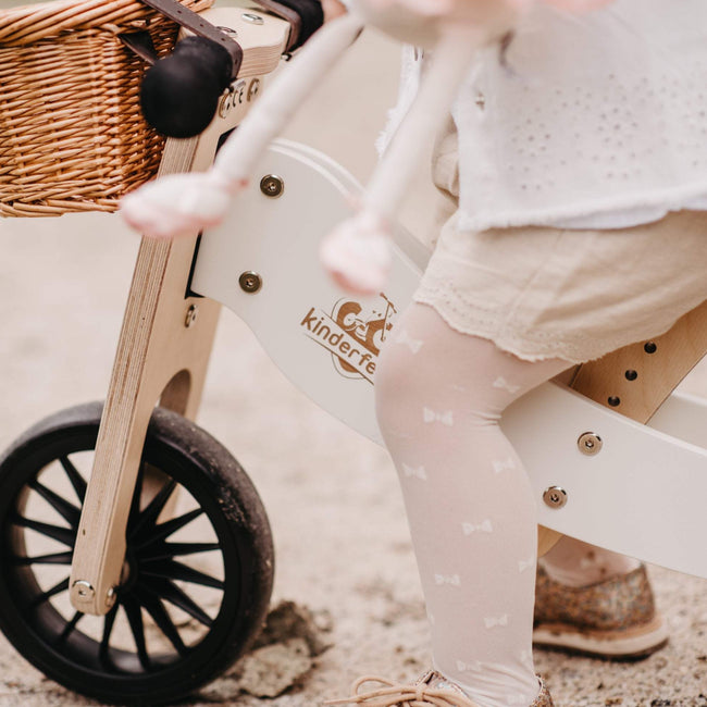 2-in-1 Tiny Tot + Tricycle & Balance Bike - White (18m-4y)
