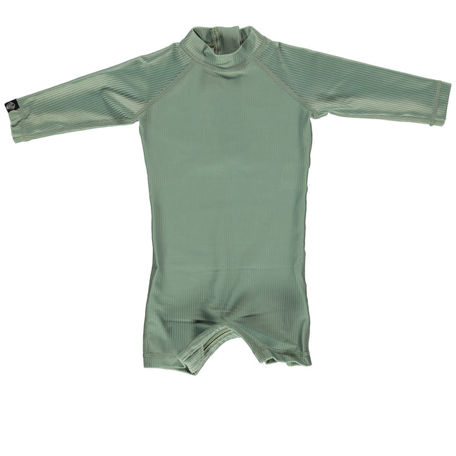 Baby Swimsuit - Basil Ribbed