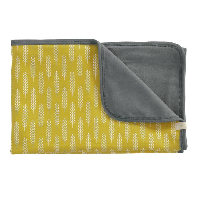 Blanket - Yellow Vintage Wheat Print