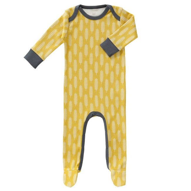 Sleepsuit - Yellow vintage wheat print
