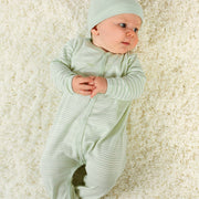 Snap Front Sleepsuit - Sage