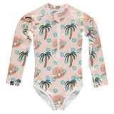 Kid Swimsuit - Pearls & Palms