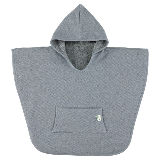 Towel Poncho - Grain Blue