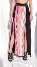 Load image into Gallery viewer, High Waist Maxi Skirt with print and splits