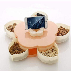 Rotating Dry fruit Serving Tray ( Multi Colour )