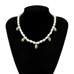 Punk Multi Layered Pearl Choker Necklace