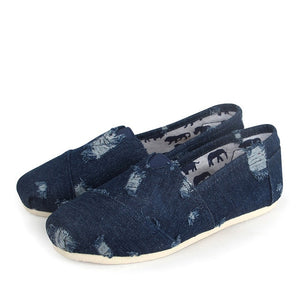 Denim Female Casual Shoes