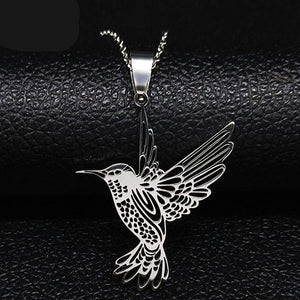 Hummingbird Stainless Steel Necklaces
