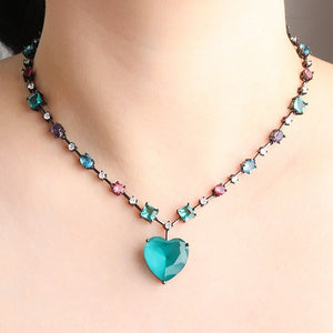 Boho  Colorful Heart Pendant