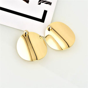 Gold Silver Round Sequins Earrings