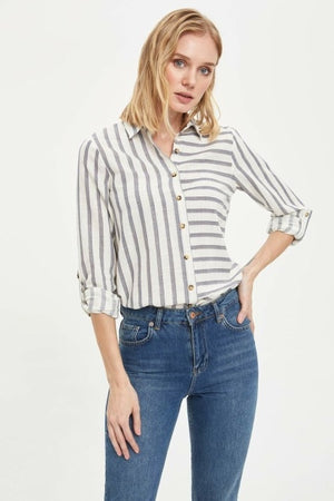Casual  Striped Top Shirt