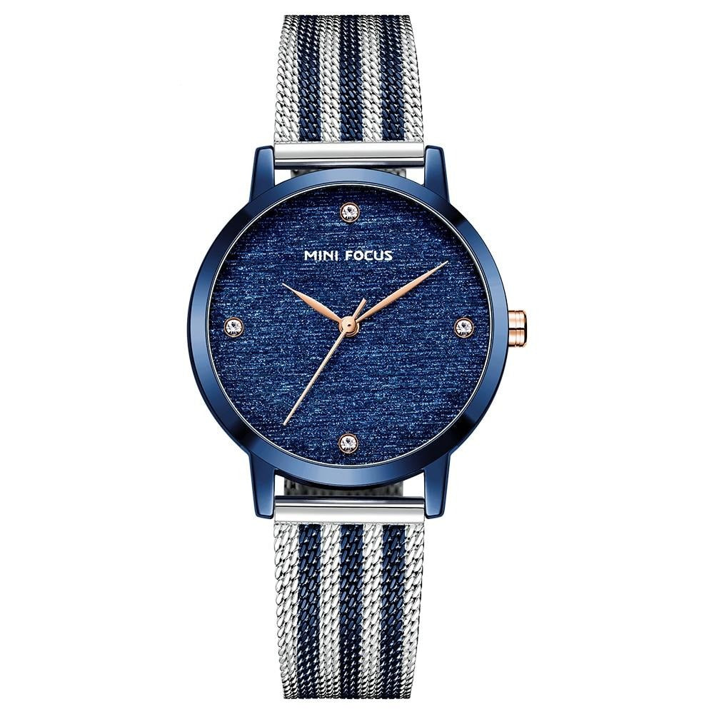 MINI FOCUS Luxury Blue Waterproof   Watch