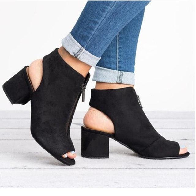 Women lase High-heel  Casual Fish Mouth Wedge